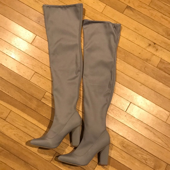 2a2802bb1da NIB misguided pointed toe neoprene knee high boots.  M 5b6a64e325457a4e74762bba